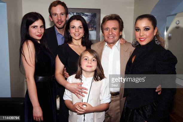 Annabel Jones Josh Cramer Jessica Jones and son Phoenix Burrows with Davy Jones and wife Jessica Pacheco backstage at Royal Albert Hall on May 19...