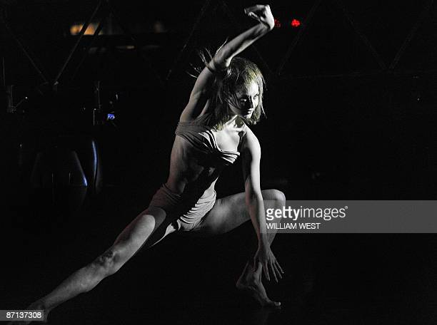 Annabel Knight a Melbourne dancer with the Sydney Dance Company performs during a press call for the company's presentation of 360º by Spanish...