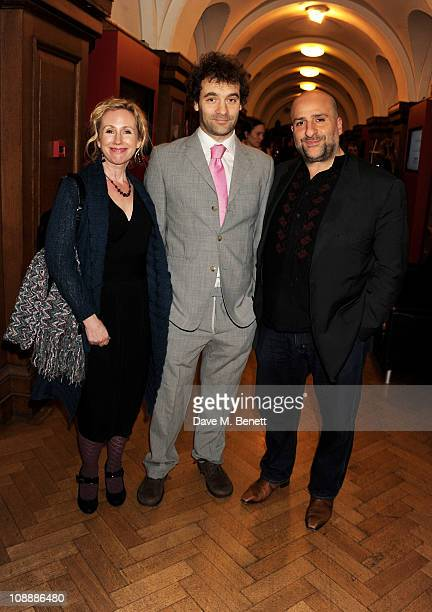 Annabel Knight and actor/comedian Omid Djalili attend the London Evening Standard British Film Awards 2011 at the London Film Museum on February 7...