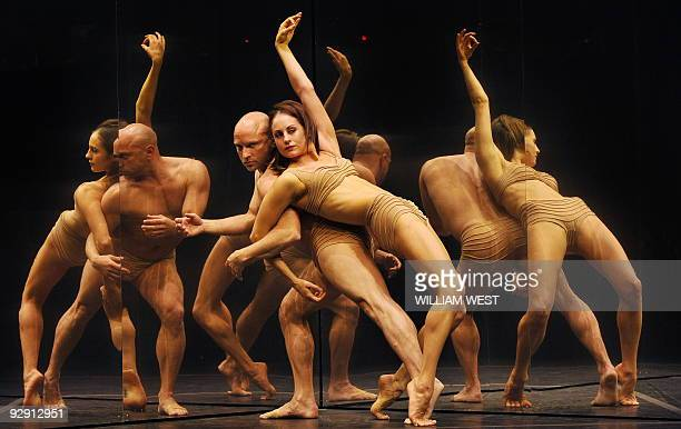Annabel Knight and Bradley Chatfield Melbourne dancers with the Sydney Dance Company perform during a press call for the company's presentation of...