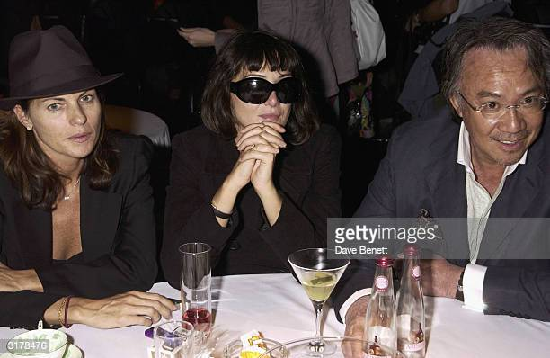 Annabel Nielsen David Tang and his wife Lucy attend the Frost French Fashion Show 2003 at the Royal Hortecultural Hall on August 22 2003 in London