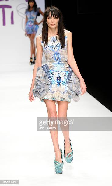 Annabel Nielsen on the catwalk at the Fashion for Relief show for London Fashion Week Autumn/Winter 2010 at Somerset House on February 18 2010 in...