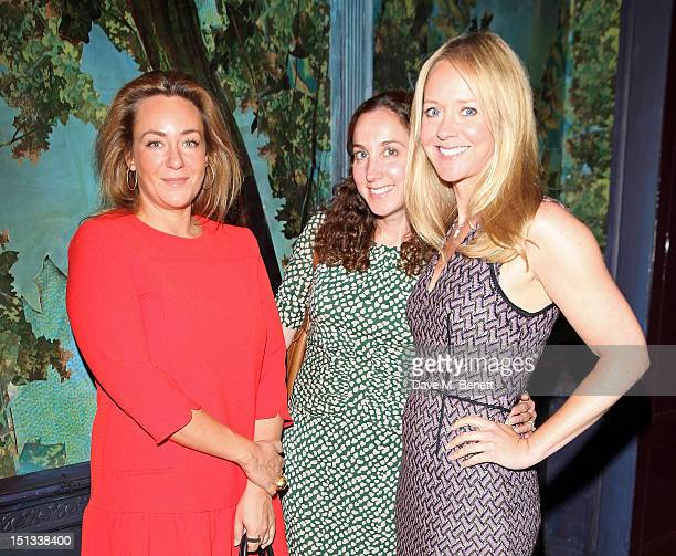 Annabel Rivkin Deborah Feldman and Kate Reardon arrive for Tatler's 'The Great Girls Lunch' in aid of Cancer Research UK at Sketch on September 6...