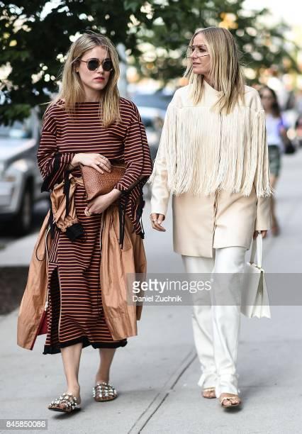 Annabel Rosendahl and Celine Aargaard are seen outside the 3.1 Phillip Lim show during New York Fashion Week: Women's S/S 2018 on September 11, 2017...