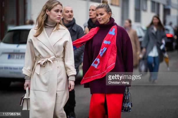 Annabel Rosendahl and Janka Polliani is seen outside Baum und Pferdgarten during the Copenhagen Fashion Week Autumn/Winter 2019 Day 3 on January 31...