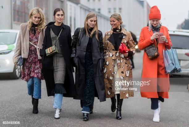 Annabel Rosendahl Darja Barannik Tine Andrea Janka Polliani outside Baum Pferdgarten at the Copenhagen Fashion Week Autumn/Winter 17 on February 1...