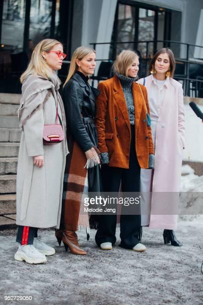 Annabel Rosendahl Janka Polliani Tine Andreea Darja Barannik on January 26 2018 in Oslo Norway