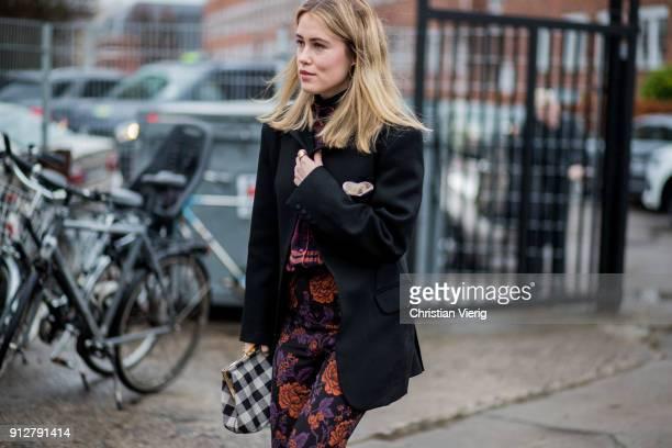Annabel Rosendahl outside Cecilie Bahnsen during the Copenhagen Fashion Week Autumn/Winter 18 on January 31 2018 in Copenhagen Denmark