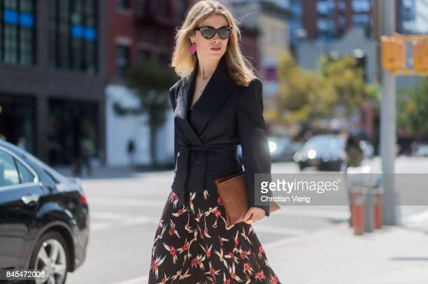 Annabel Rosendahl seen in the streets of Manhattan outside Tome during New York Fashion Week on September 10 2017 in New York City