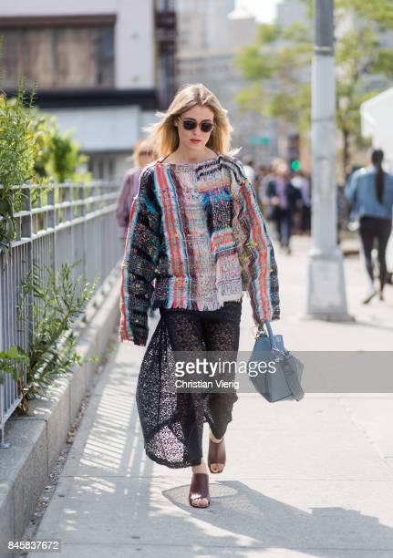 Annabel Rosendahl seen in the streets of Manhattan outside Zimmermann during New York Fashion Week on September 11 2017 in New York City
