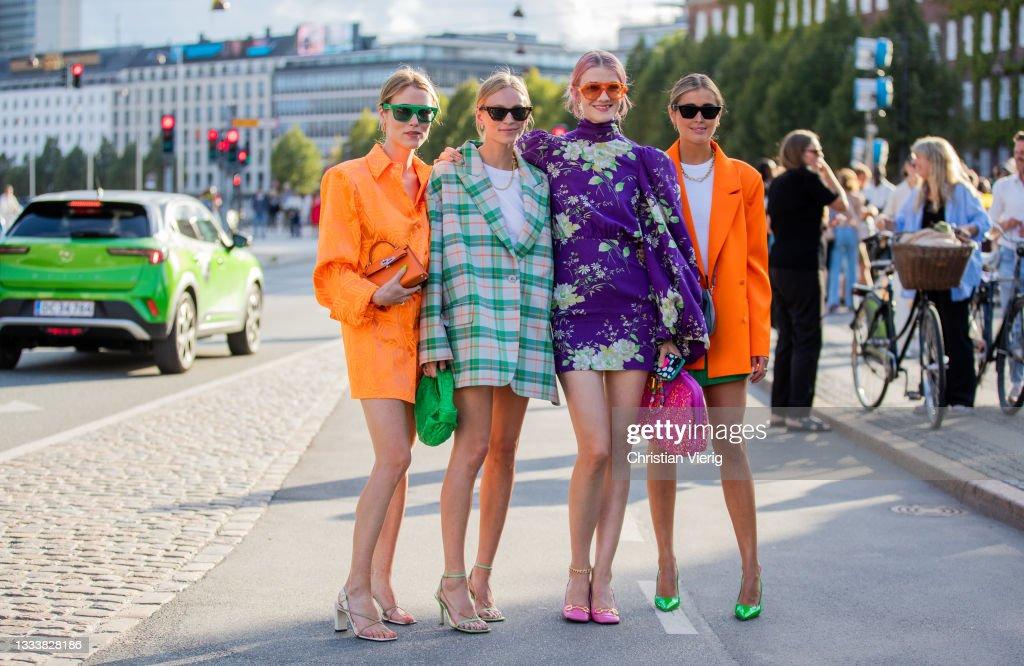 Street Style - Day 3 - Copenhagen Fashion Week Spring/Summer 2022 : News Photo