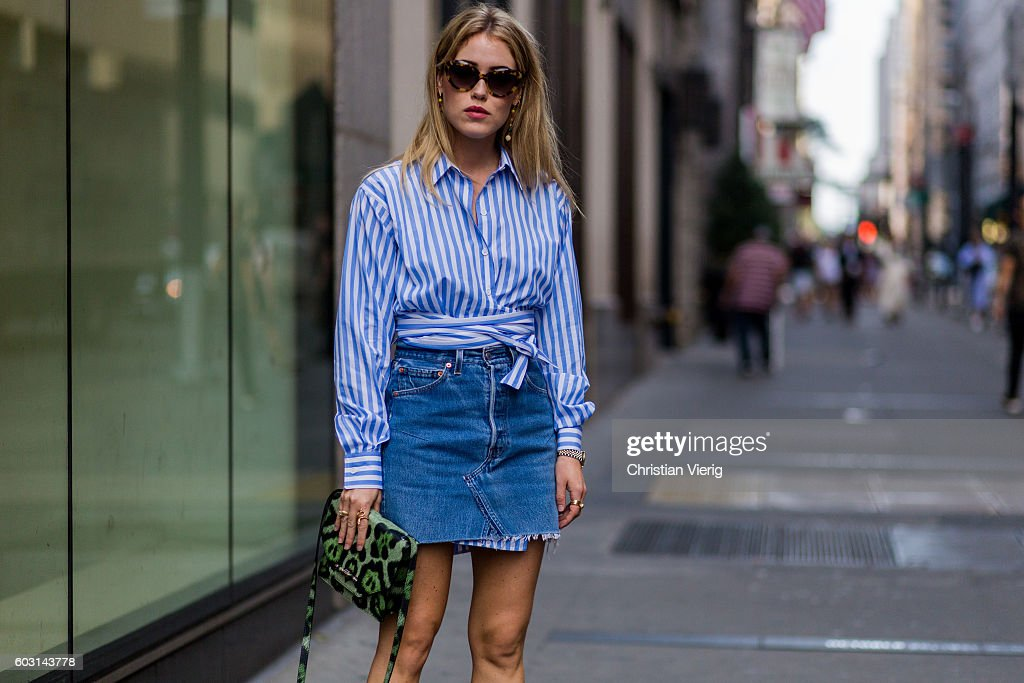 Street Style - September 2016 New York Fashion Week - Day 4 : Photo d'actualité