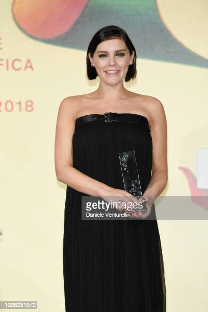 Annabel Scholey attends 2018 Kineo Awards during the 75th Venice Film Festival at Excelsior Hotel on September 2 2018 in Venice Italy