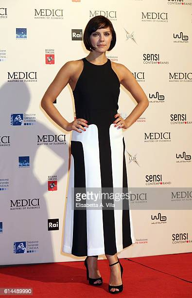 Annabel Scholey attends a photocall for 'I Medici' at Palazzo Vecchio on October 14 2016 in Florence Italy