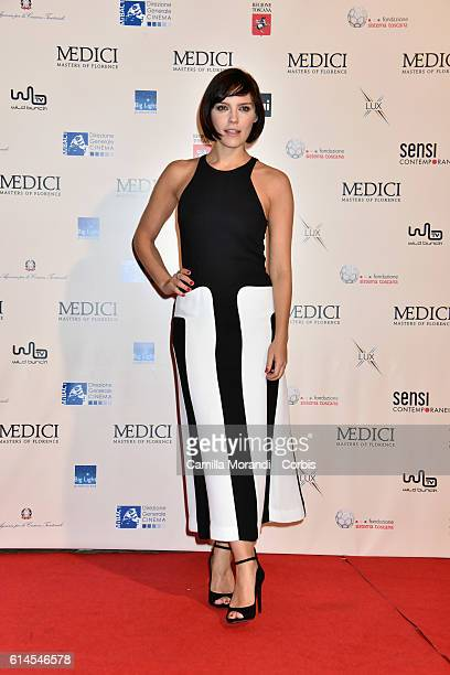 Annabel Scholey attends a photocall for 'I Medici' on October 14 2016 in Florence Italy