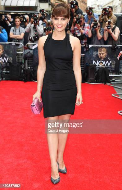 Annabel Scholey attends the European premiere of 'Now' at The Empire Leicester Square on June 9 2014 in London England