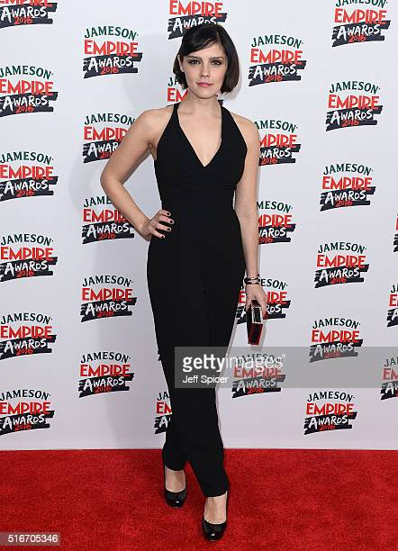Annabel Scholey attends the Jameson Empire Awards 2016 at The Grosvenor House Hotel on March 20 2016 in London England