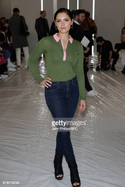Annabel Scholey attends the Jasper Conran show during London Fashion Week February 2018 at Claridges Hotel on February 17 2018 in London England