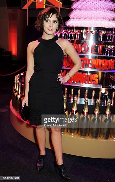 Annabel Scholey attends the Moet Reception at the Moet British Independent Film Awards 2013 at Old Billingsgate Market on December 8 2013 in London...
