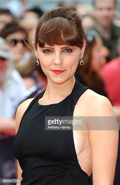 Annabel Scholey attends the UK Premiere of 'Now' at Empire Leicester Square on June 9 2014 in London England