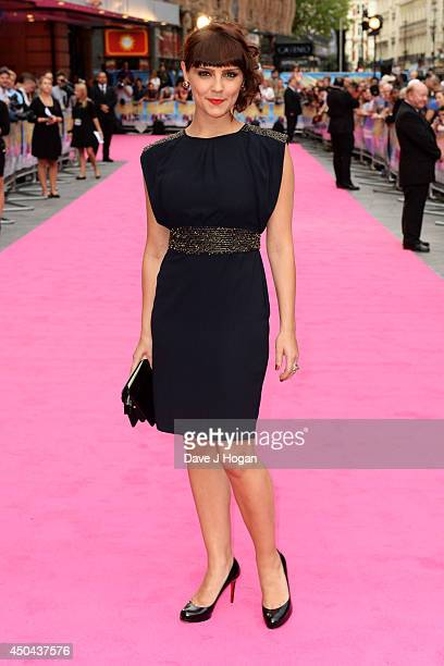 Annabel Scholey attends the UK premiere of Walking On Sunshine at The Vue West End on June 11 2014 in London England