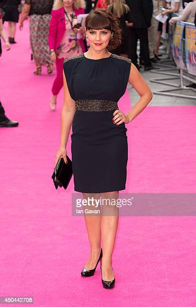 Annabel Scholey attends the UK Premiere of Walking On Sunshine at Vue West End on June 11 2014 in London England
