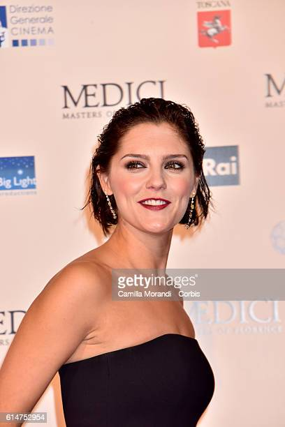 Annabel Scholey walks a red carpet for 'I Medici' on October 14 2016 in Florence Italy