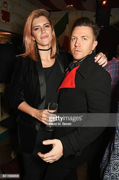 Annabel Simpson and Sam Dowler attend the launch of Bunga Bunga in Covent Garden on January 12 2017 in London England