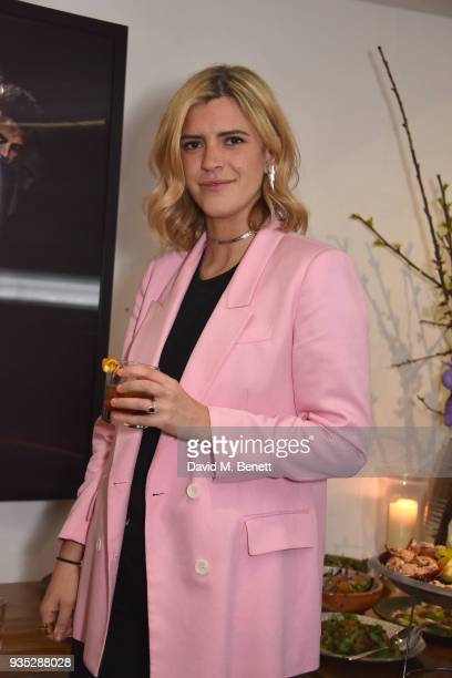 Annabel Simpson attends an exclusive dinner celebrating Derrick Santini's exhibition Float Fly curated by Mark Broadbent of 'Bread Honey' at The...