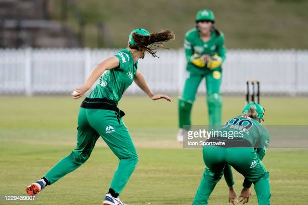 Annabel Sutherland of the Melbourne Stars fields the ball during the week 2 Women's Big Bash League cricket match between Adelaide Strikers and...