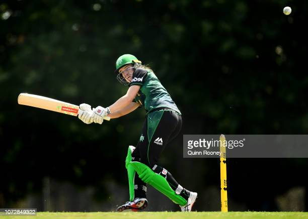 Annabel Sutherland of the Stars bats during a Melbourne WBBL media opportunity at Harry Trott Oval on November 27 2018 in Melbourne Australia