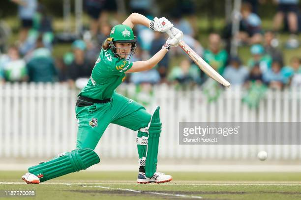 Annabel Sutherland of the Stars bats during the Women's Big Bash League match between the Melbourne Stars and the Brisbane Heat at CitiPower Centre...
