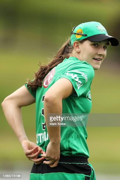 Annabel Sutherland of the Stars looks on during the Women's Big Bash League WBBL match between the Melbourne Stars and Hobart Hurricanes at Drummoyne...