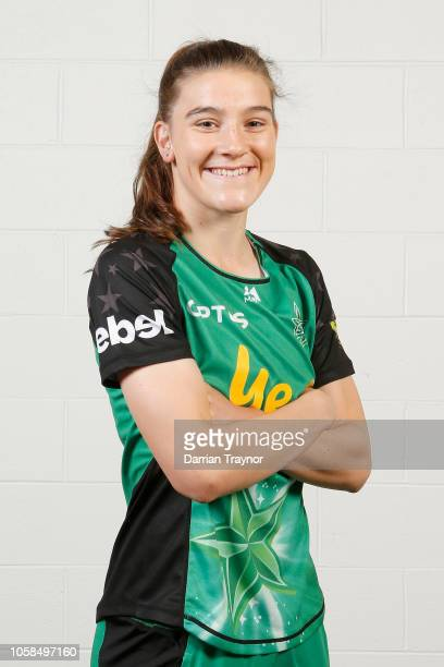 Annabel Sutherland poses during a Melbourne Stars WBBL headshots session at the Melbourne Cricket Ground on November 7 2018 in Melbourne Australia