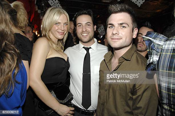 Annabel Tollman Ari Goldberg and Andrew Freston attend STYLECASTER 2008 Holiday Party Sponsored by 10 Cane Rum at The Randolph on December 17 2008 in...