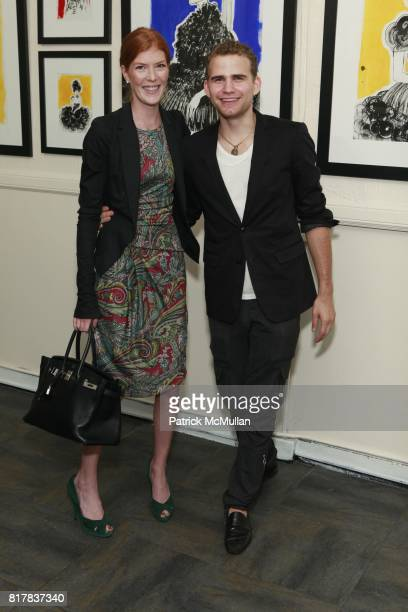 Annabel Vartanian and Zev Eisenberg attend DAVID FOOTE'S MADONNA CHILD Opening at St John's Lutheran Church on October 27 2010 in New York City