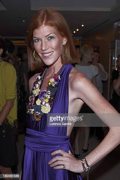Annabel Vartanian attends the Christie's Resurrection Avant Garde Fashion Contemporary Art at 20 Rockefeller Plaza on September 4 2008 in New York...
