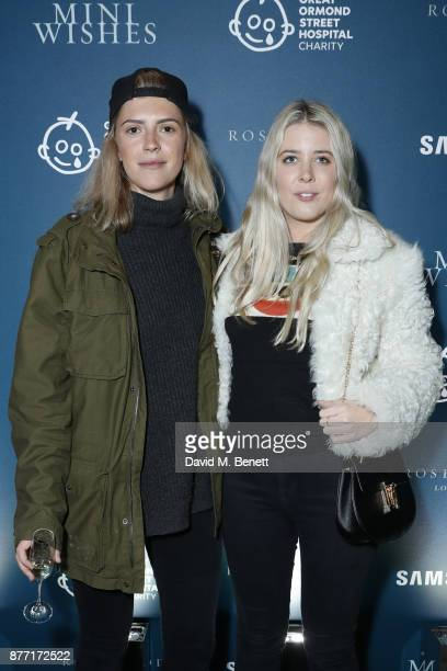 Annabel Woodhams and Gracie Egan attend a Christmas Party at Rosewood London to celebrate the launch of Rosewood Mini Wishes in aid of Great Ormond...