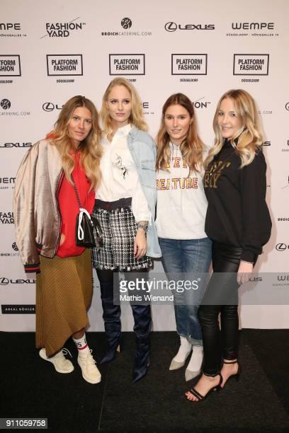 Annabell Marschall Katharina Knopp Katharina Bonmann and Sabrina Etter attend the Fashionyard show during Platform Fashion January 2018 at Areal...
