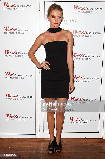 Annabella Barber poses at the Westfield Autumn/Winter 2013 launch at Pelicano Bar on March 19 2013 in Sydney Australia