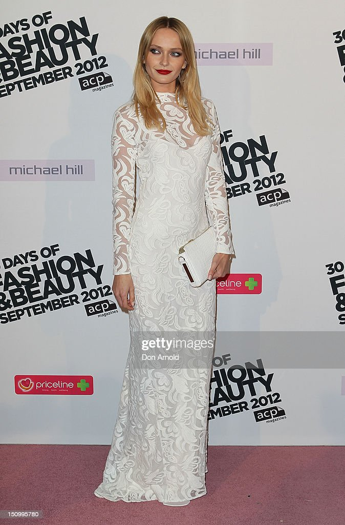 Annabella Barber poses during the 30 Days of Fashion & Beauty Launch at Sydney Town Hall on August 30, 2012 in Sydney, Australia.