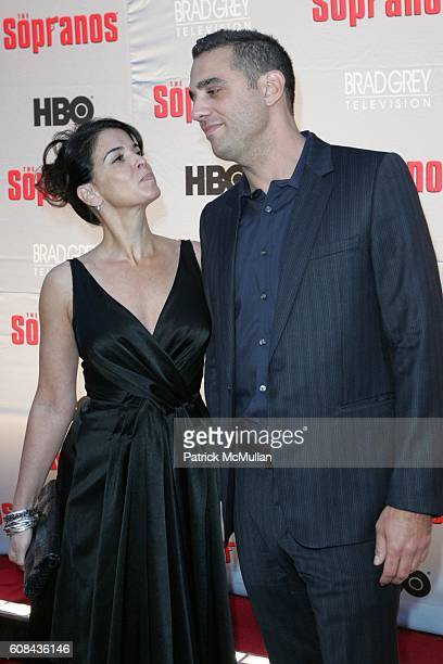 Annabella Sciorra and Bobby Cannavale attend HBO and BRAD GREY TELEVISION Present the World Premiere of the HBO Original Series 'THE SOPRANOS' at...