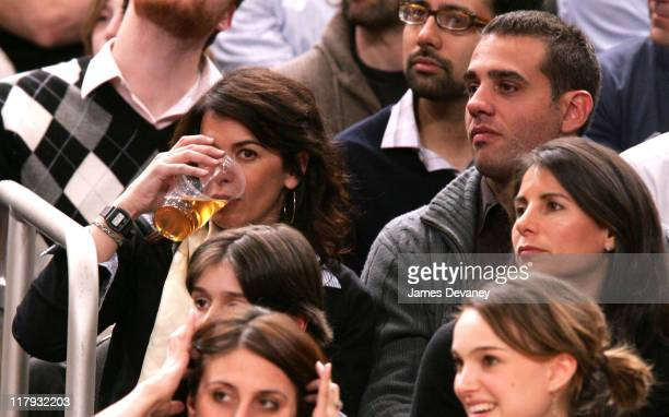 Annabella Sciorra and Bobby Cannavale during Celebrities Attend Dallas Mavericks vs New York Knicks Game March 20 2007 at Madison Square Garden in...
