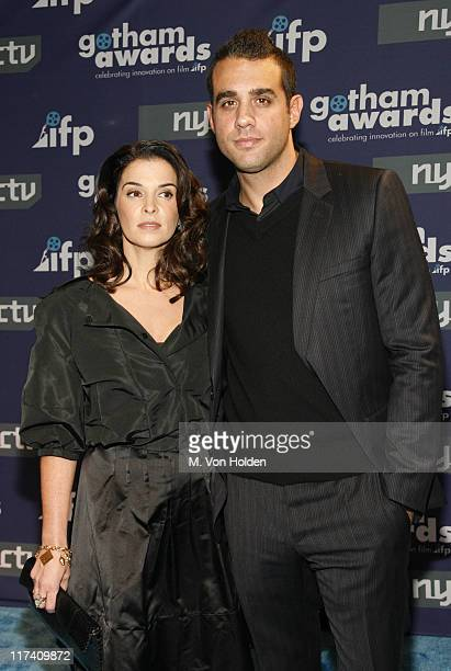 Annabella Sciorra and Bobby Cannavale during IFP's 16th Annual Gotham Awards Red Carpet at Pier 60 Chelsea Piers in New York City New York United...