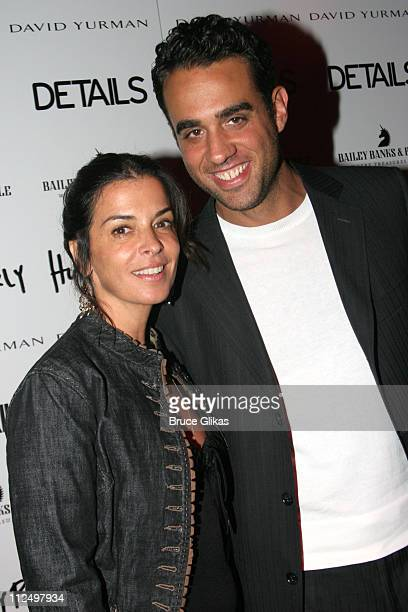 """Annabella Sciorra and Bobby Cannavale during Opening Night Celebration of """"Hurlyburly"""" Re-Opening Off-Broadway at 37 Arts and Aer Nightclub in New..."""