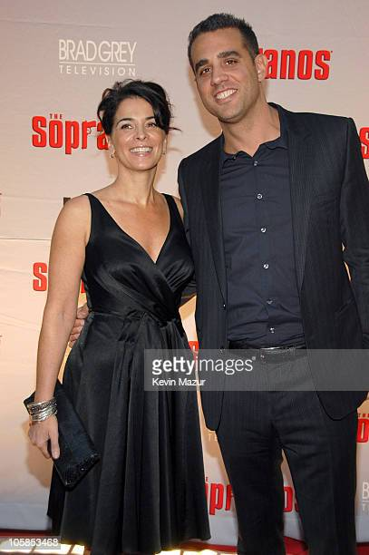 Annabella Sciorra and Bobby Cannavale during The Sopranos Final Season World Premiere Red Carpet at Radio City Music Hall in New York City New York...