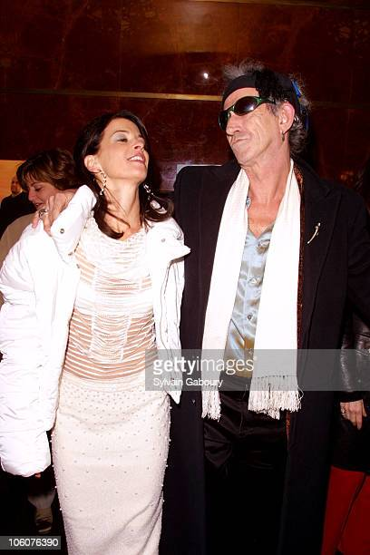 Annabella Sciorra and Keith Richards during HBO celebrates the Third Season of 'The Sopranos' at Hilton Hotel Grand Ballroom in New York NY