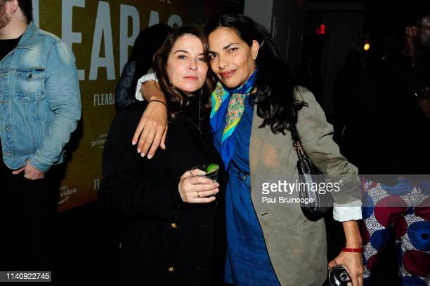 Annabella Sciorra and Sarita Choudhury attend Special Screening Of Season 2 Of Amazon's Fleabag at Metrograph on May 2 2019 in New York City