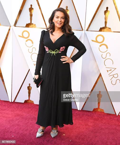 Annabella Sciorra arrives at the 90th Annual Academy Awards at Hollywood Highland Center on March 4 2018 in Hollywood California