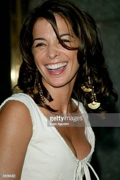 Annabella Sciorra arriving at the world premiere of the fourth season of HBO's 'The Sopranos' at Radio City Music Hall in New York City September 5...